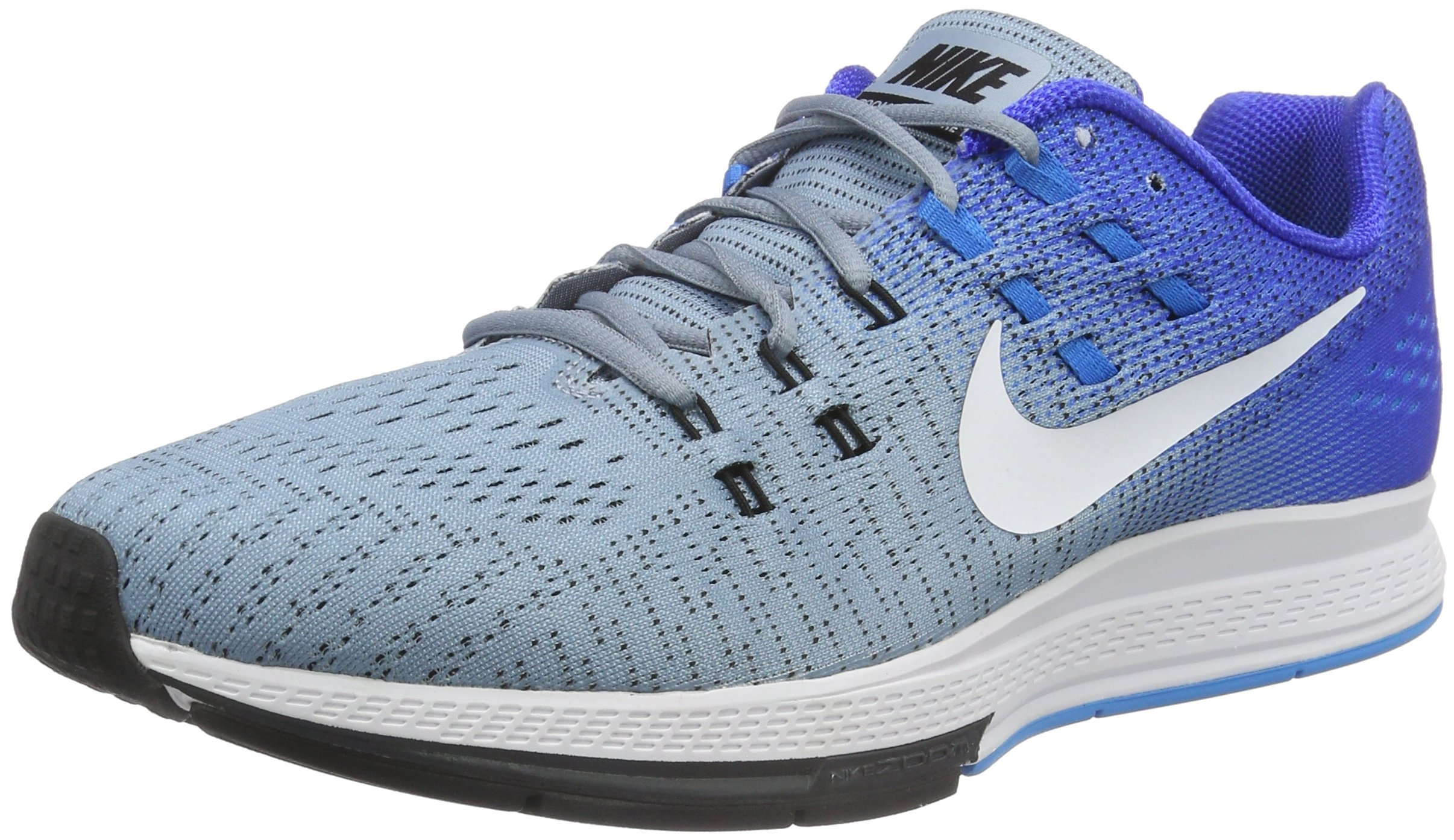 NIKE Men's Air Zoom Structure 19 Blue Grey/White/RCR/Bl/Bl GLW Running Shoe 12 Men US
