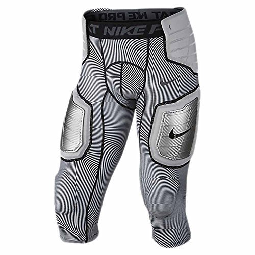 Nike Pro Mens Hyperstrong Hard Plate Three-Quarter Football Tights White/Black/Grey