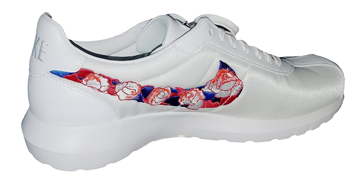 NIKE Women's Roshe LD-1000 White Tennis Shoes SW (Serena Williams) Size: 10 (10, White/Sunset Glow-HOT Lava)