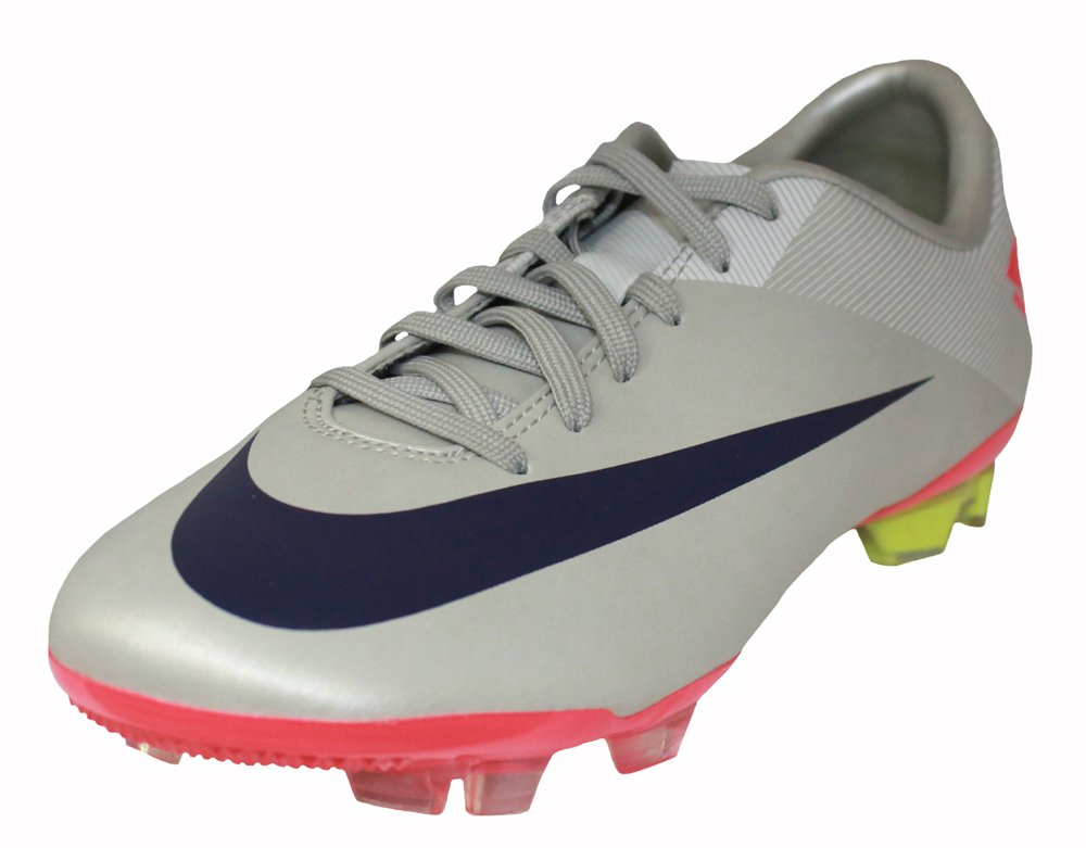 Nike JR Mercurial Vapor VII FG (GS) Big Kids Soccer Cleats [442058-051] Granite/Imperial Purple-White-Solar Red Boys Shoes 442058-051-1