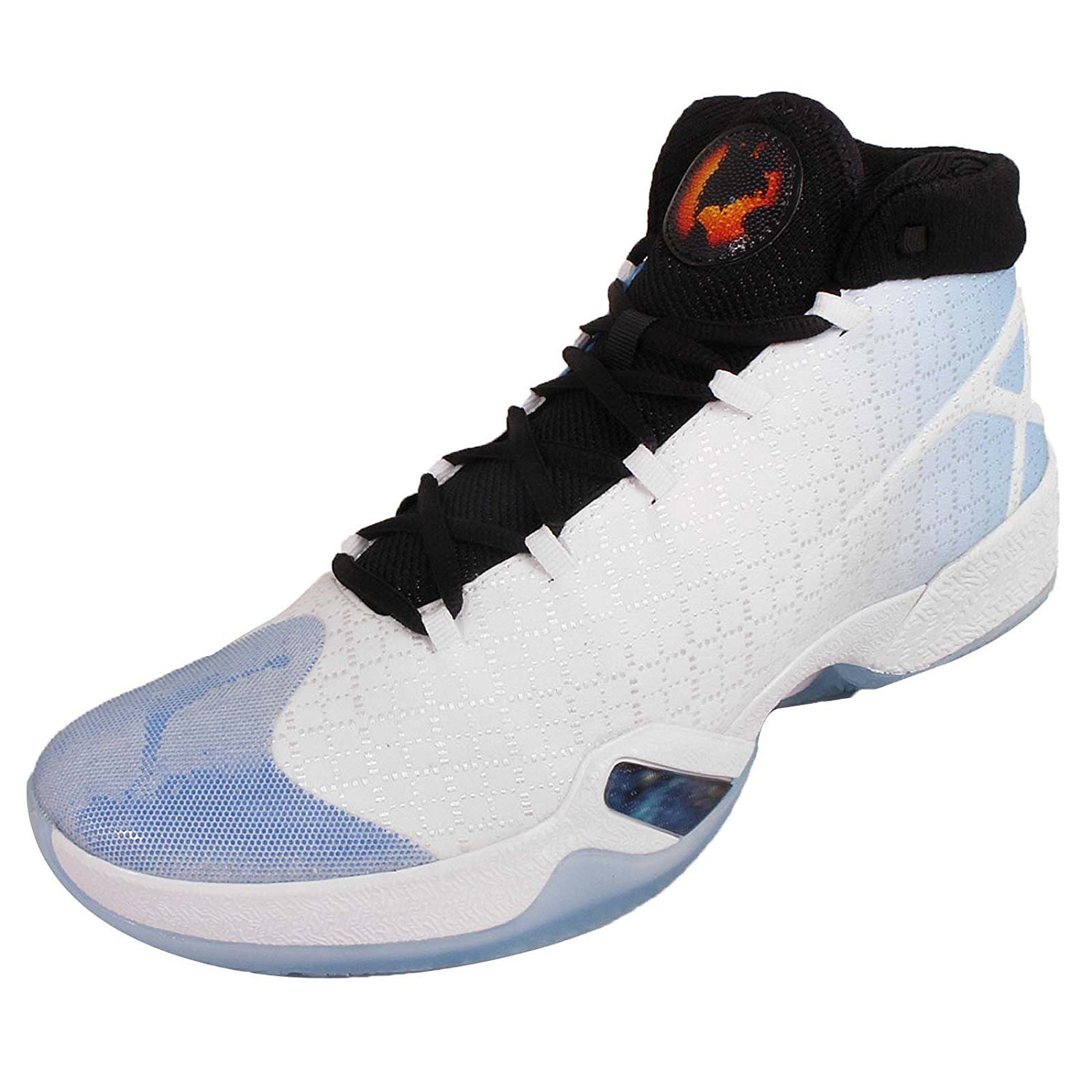 NIKE Air Jordan XXX UNC Basketball Shoes Sneakers (10, White/Black-University Blue)