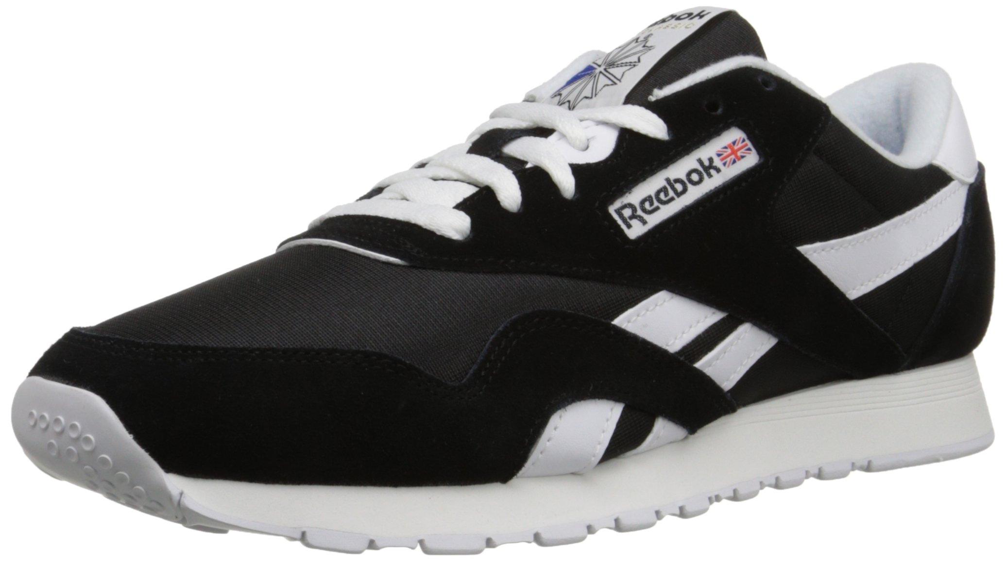 Reebok Men's Classic Sneaker, Black/White, 9.5M