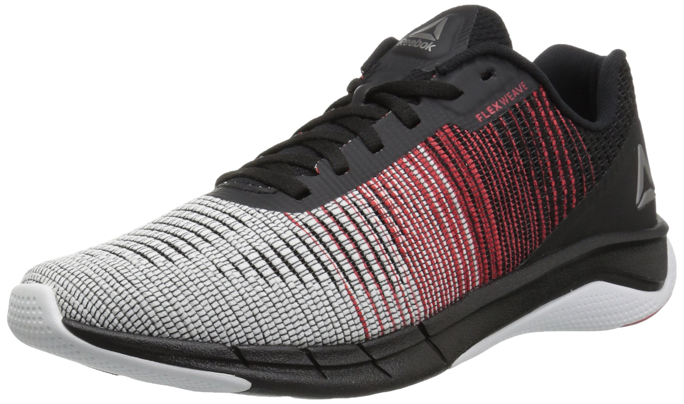 Reebok Men's Fast Flexweave Running Shoe, White/Primal Red/Black, 10.5 M US