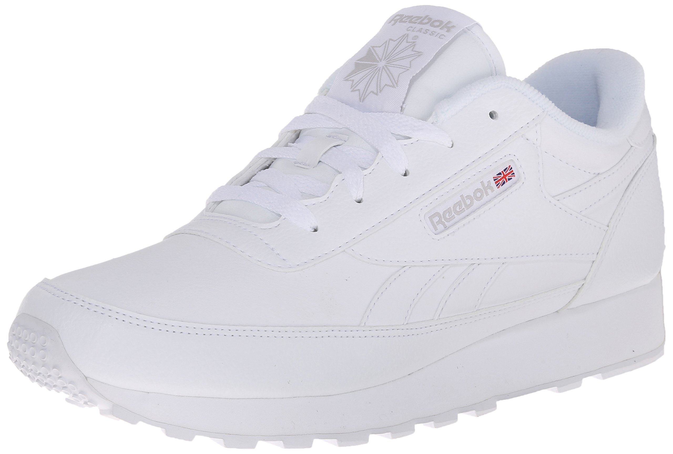 Reebok Women's CL Renaissance Fashion Sneaker, White/Steel, 7.5 D US