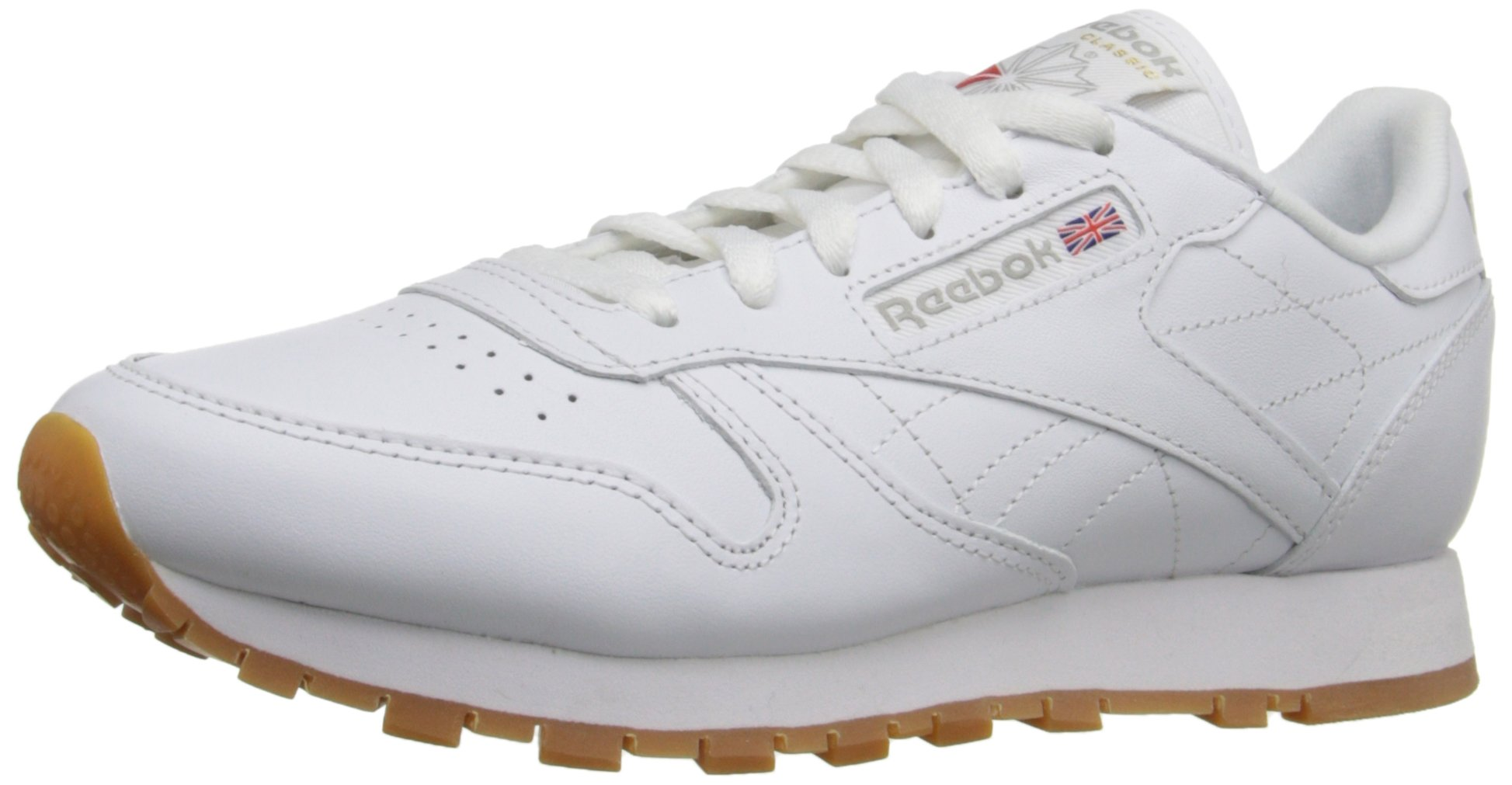 Reebok Women's CL Lthr Sneaker, Us-White/Gum, 9 M US