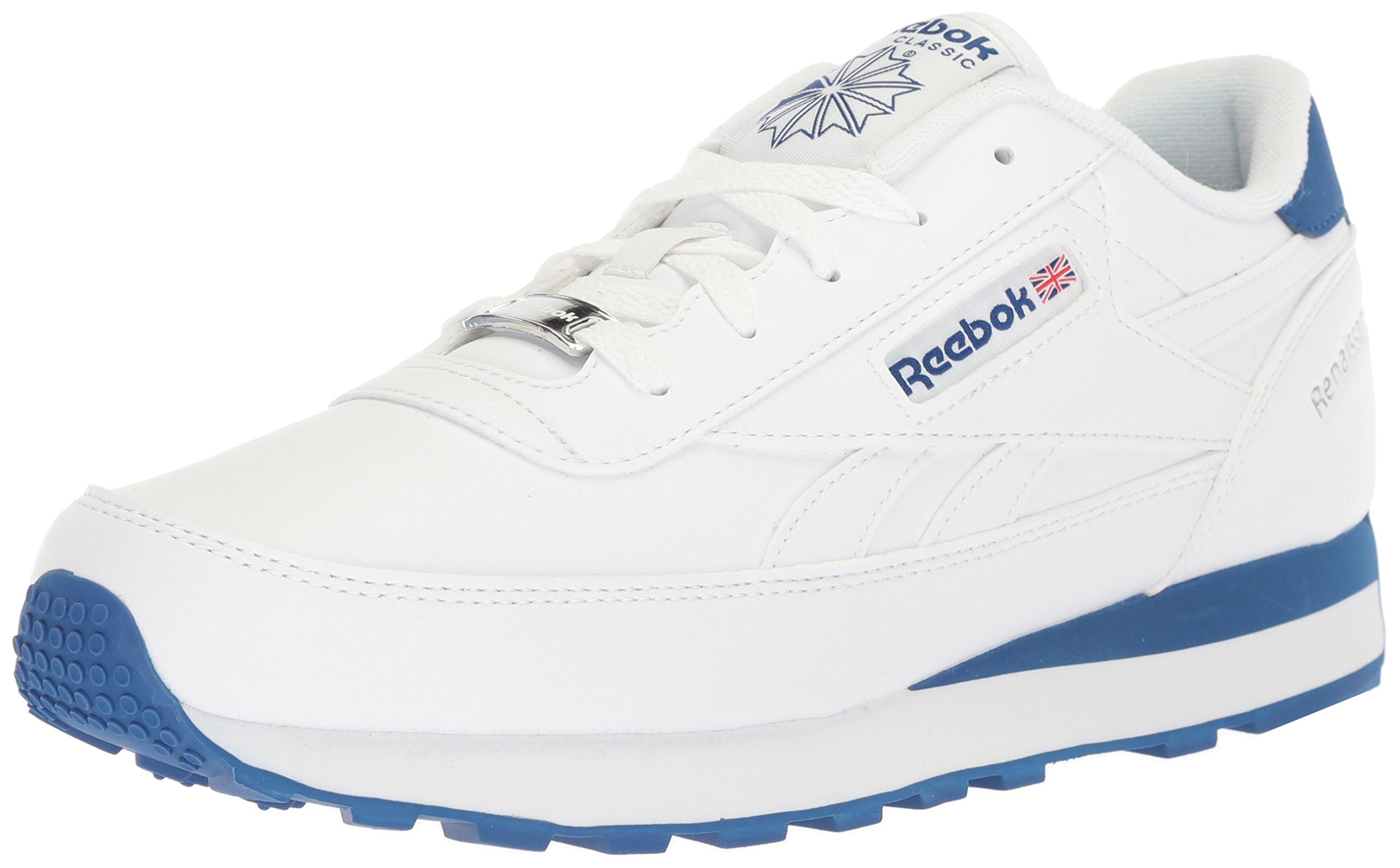 Reebok Men's Classic Renaissance Cross Trainer, White/Collegiate Royal/Silver, 6.5 M US