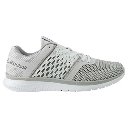 Reebok Women's Print Prime Runner Sneaker, White/Steel, 8 M US