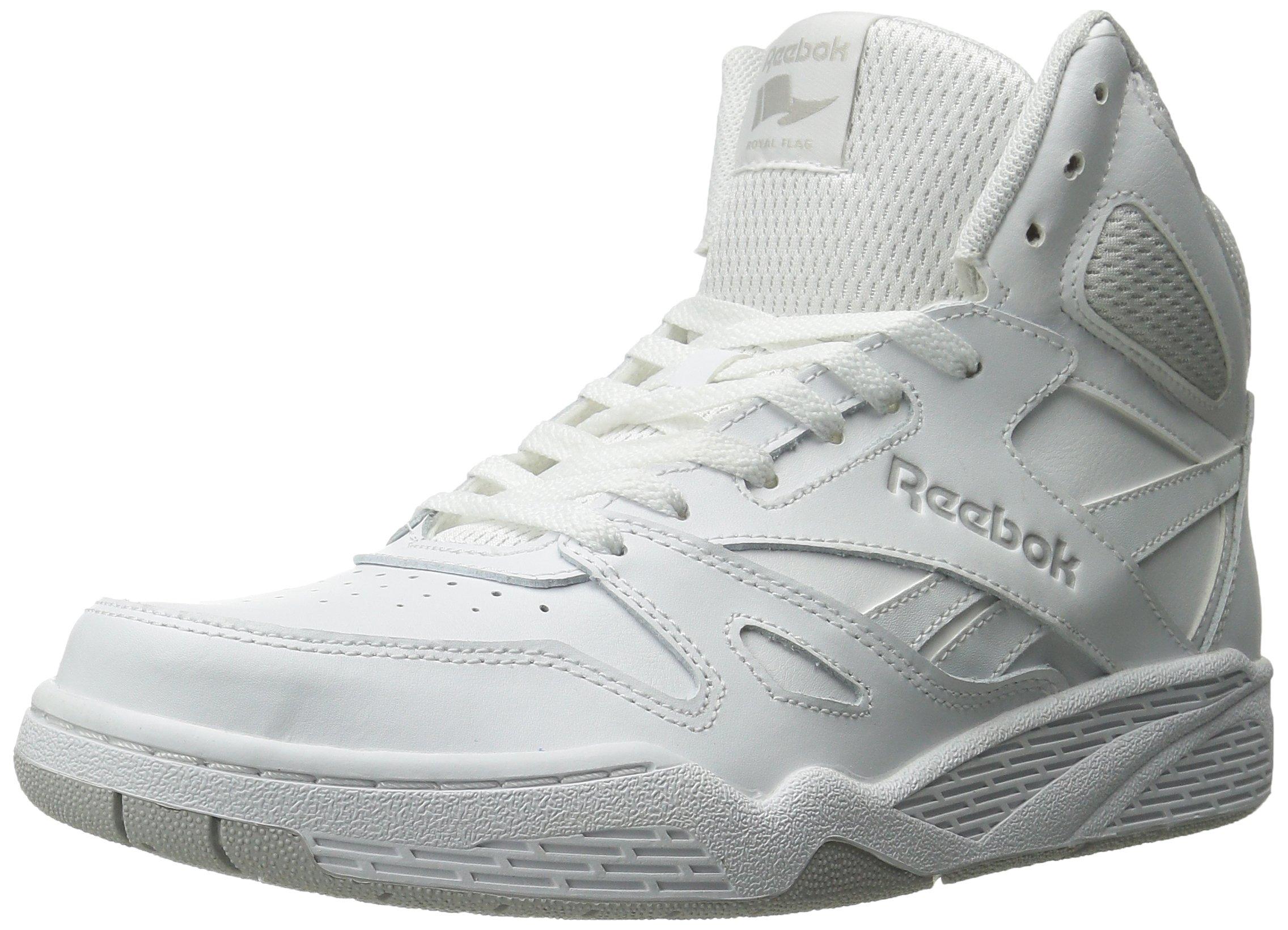 Reebok Men's Royal Bb4500 Hi Fashion Sneaker, White/Steel, 8.5 M US