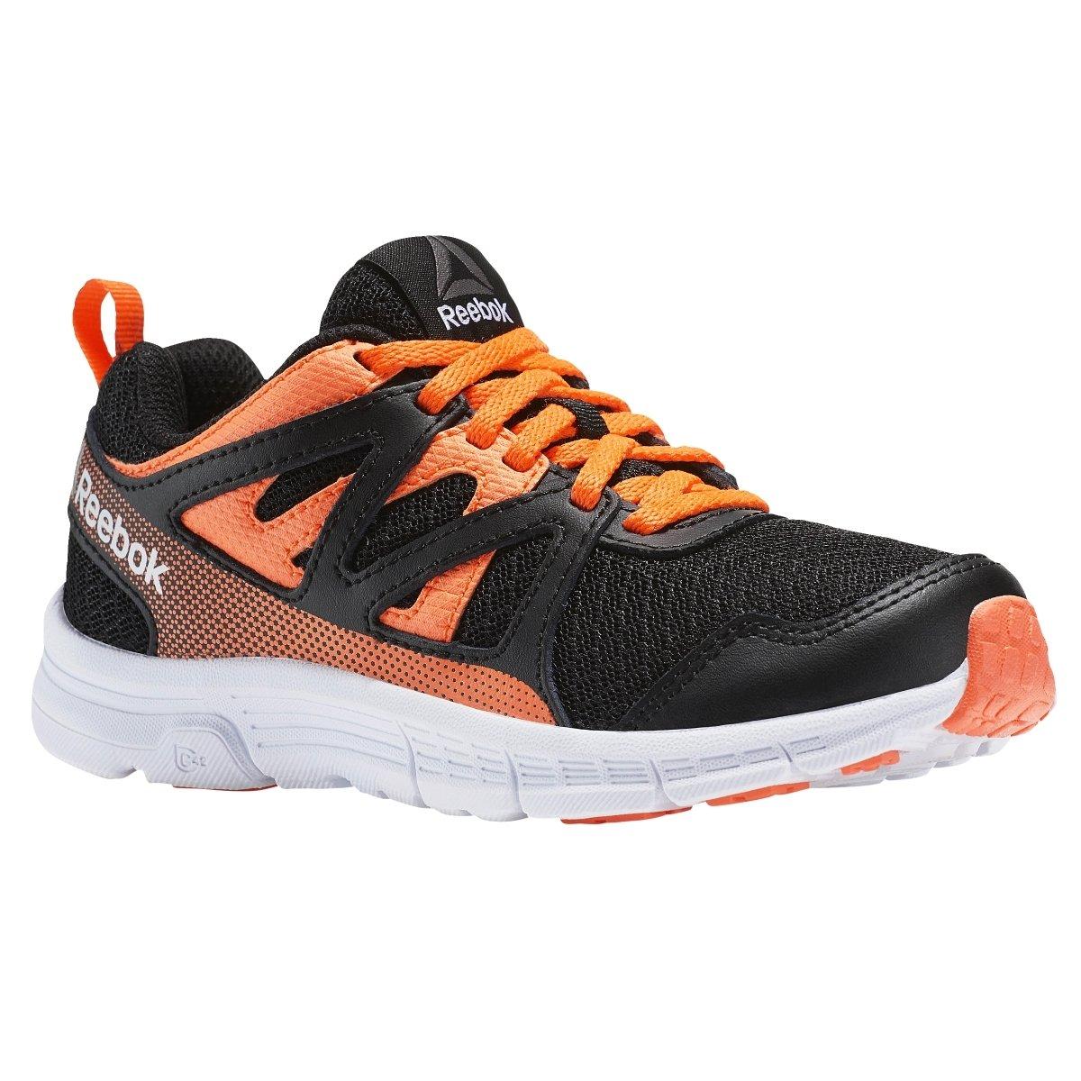 Reebok Baby Run Supreme 2.0 Sneaker, Black/Wild Orange/White, 12 Child US Toddler