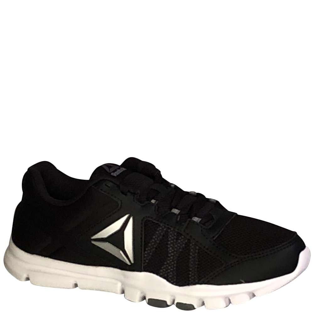 Reebok Yourflex Trainette 9.0 MT Cross-Trainer Shoe - Black/White/Asteroid Dust/Silver Metallic/Grey - Womens - 9