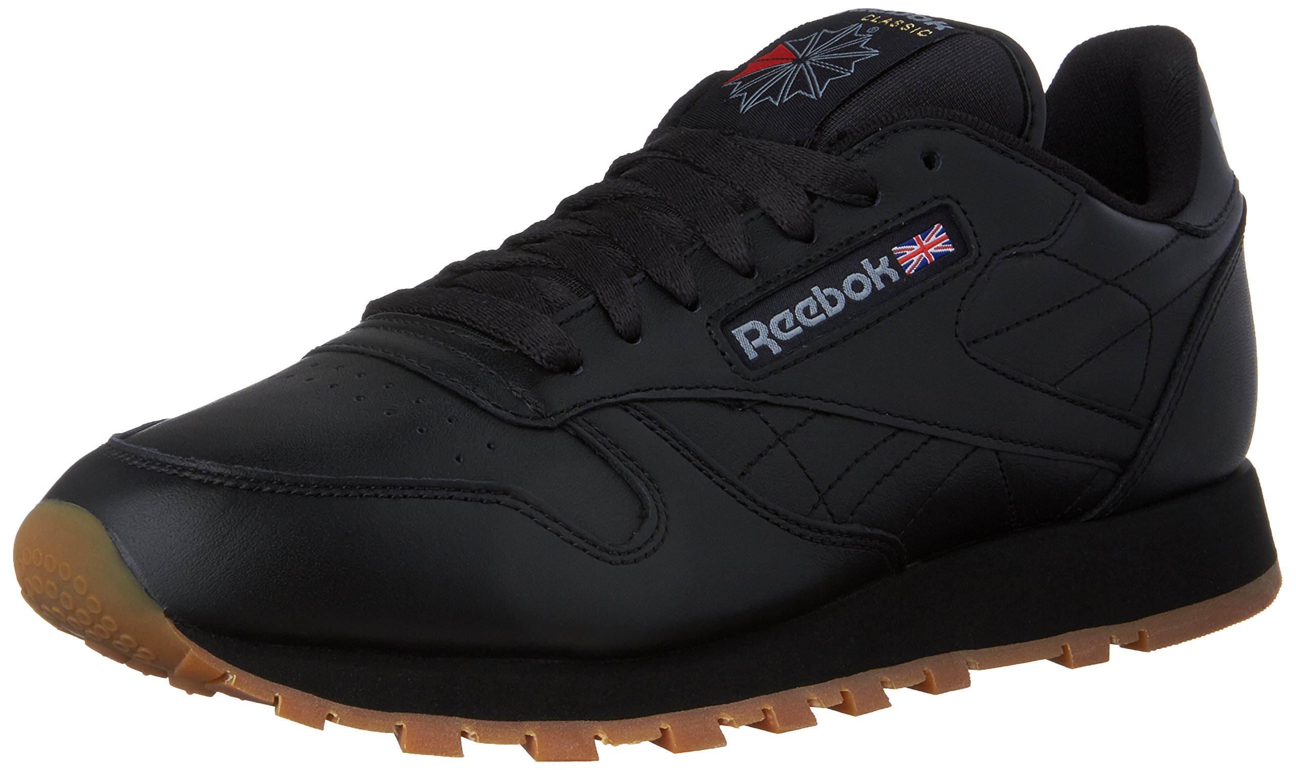 Reebok Men's Classic Leather Sneaker, Black/Gum, 6.5 M US
