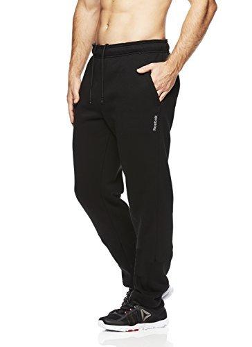 Reebok Men's High Impact Pant - Poly/Cotton, Midnight Black, Large
