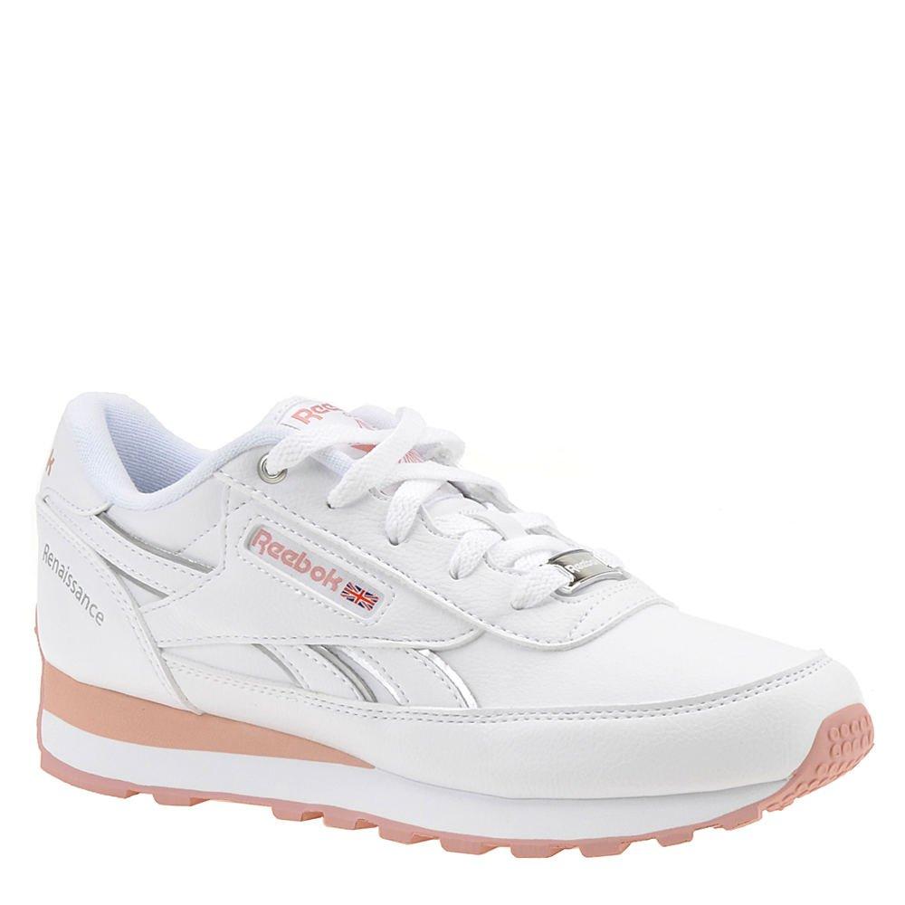 Reebok Women's Classic Renaissance Walking Shoe, White/chalk Pink/Silver, 9 M US